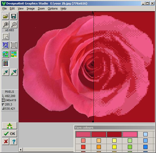DesignaKnit 8 Estudio grafico