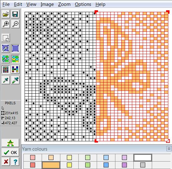 DesignaKnit 8 tarjeta perforada